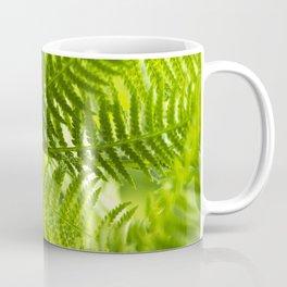 Green Fern Abstract Coffee Mug