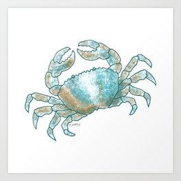 Coastal Crab Art Print