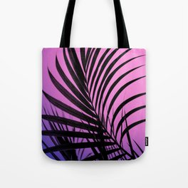 Simple palm leaves paradise with gradient Tote Bag
