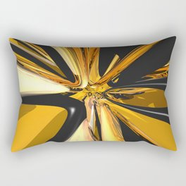 Black And Gold 3D Abstract Rectangular Pillow