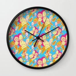 Electric Banana Monkey Wall Clock