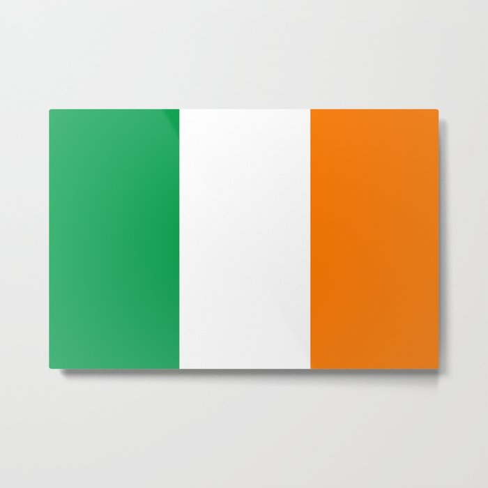 Flag of Ireland, High Quality Image Metal Print