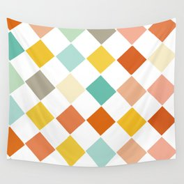 Color Check Wall Tapestry