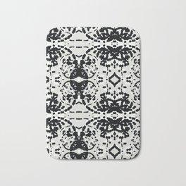 Black and White Particles Bath Mat