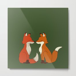 Fox couple Metal Print