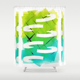 Horns Stack Shower Curtain