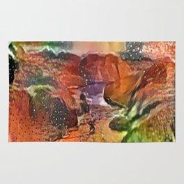 Liquified Pumpkin Landscape Rug