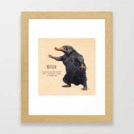 Niffler art Fantastic Beasts Framed Art Print