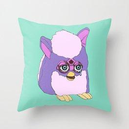 Purple Furby Throw Pillow