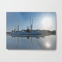Shrimp Boat Metal Print
