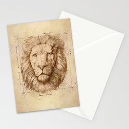 Lion Drawing, Technical Stationery Cards