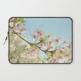 Pink on White Laptop Sleeve