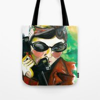 amelie Tote Bags featuring Amelie by Gra Pereira
