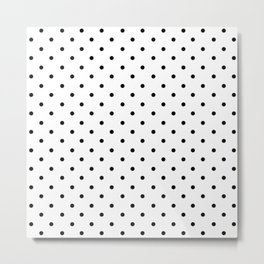 Dotted (Black & White Pattern) Metal Print