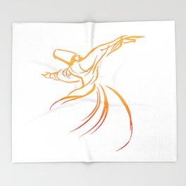 Sema The Dance Of The Whirling Dervish Throw Blanket