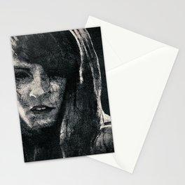 Creepy Artistic Woman Portrait Stationery Cards
