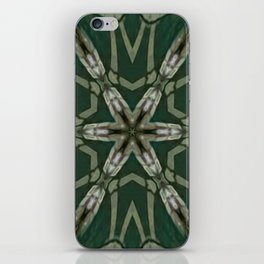 The Green Unsharp Mandala 5 iPhone Skin