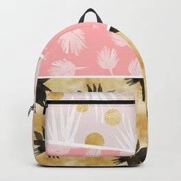 Texture with watercolor plants Backpack