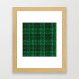 Dark Green Tartan Framed Art Print