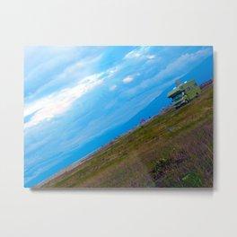green caravan Metal Print