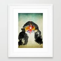 muscle Framed Art Prints featuring Muscle Girl by Arian Noveir