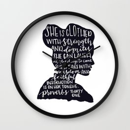 SHE IS Wall Clock