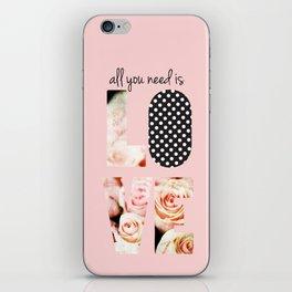 Love in Blush iPhone Skin