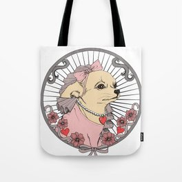 Princess Chihuahua Tote Bag