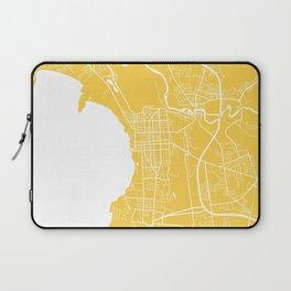Burlington map yellow Laptop Sleeve