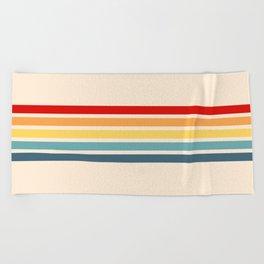 Takaakira - Classic Rainbow Retro Stripes Beach Towel