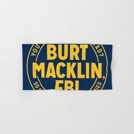 BURT FBI MACKLIN Hand & Bath Towel