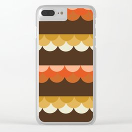 Be Still - scallop retro vintage 70s style colors 1970s throwback Clear iPhone Case