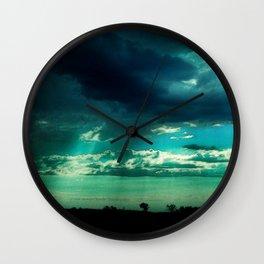 Morning Storm-Iowa Wall Clock