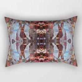 Blue flow geometry Rectangular Pillow