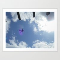plane Art Prints featuring plane by Dottie