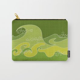 Waves V green colors V WH Carry-All Pouch