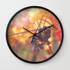 Fall Grapes Wall Clock