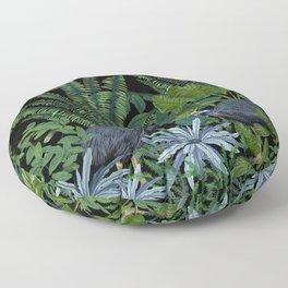 Cassowary in the jungle Floor Pillow