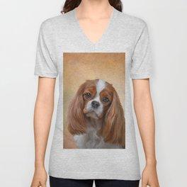 Drawing Dog breed Cavalier King Charles Spaniel Unisex V-Neck