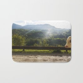 Landscape across border between Bosnia and Herzegovina and Montenegro. Bath Mat