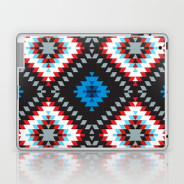 Colorful patchwork mosaic oriental kilim rug with traditional folk geometric ornament. Tribal style Laptop & iPad Skin