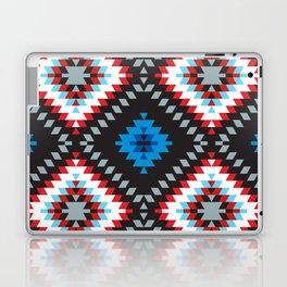Colorful patchwork mosaic oriental kilim rug with traditional folk geometric ornament. Tribal style Laptop & iPad Skin