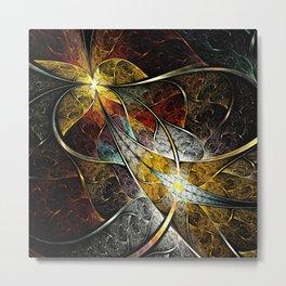 Colorful Artistic Fractal Metal Print