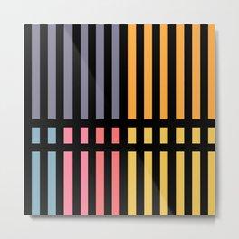 Abstract Lines and Pantone Metal Print