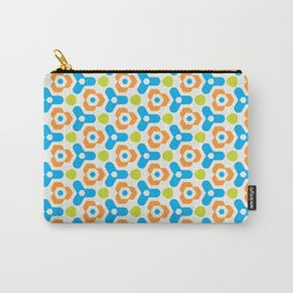 Retro Geometric Kaleidoscopic Seamless Pattern Carry-All Pouch