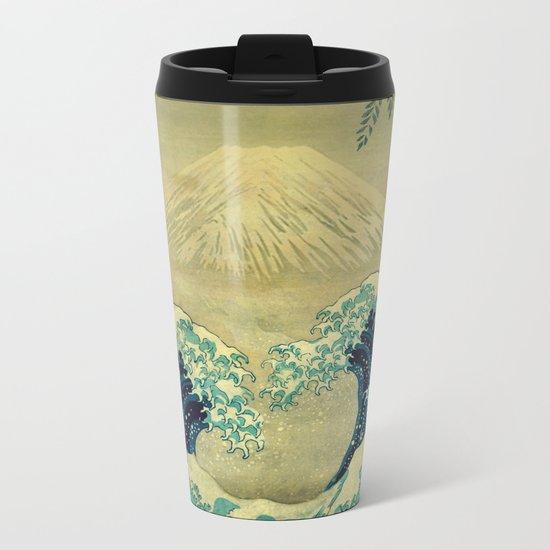 The Great Blue Embrace at Yama Metal Travel Mug