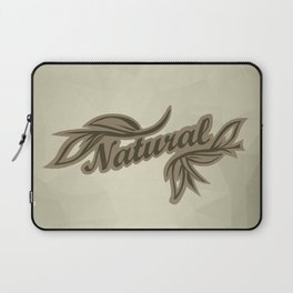 sticker badge with the inscription sheet and Natural. in natural colors Laptop Sleeve