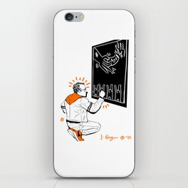 KEITH - Orange iPhone Skin