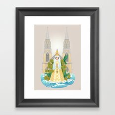 Virgen del Valle Framed Art Print