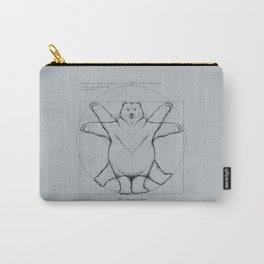 Vitruvian Bear Grey Carry-All Pouch